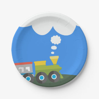 Train Party Paper Plate