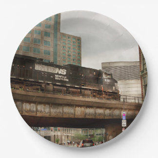 Train - Pittsburg Pa - The industrial city Paper Plate