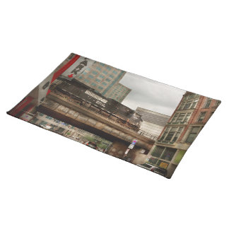 Train - Pittsburg Pa - The industrial city Place Mats
