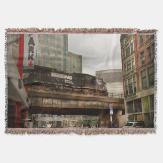 Train - Pittsburg Pa - The industrial city Throw Blanket