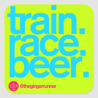 "TRAIN.RACE.BEER. 3"" Stickers (bright)"
