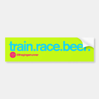 TRAIN.RACE.BEER. Bumper Sticker