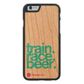 Train Race Beer iPhone 6 Wooden Case
