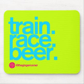 TRAIN.RACE.BEER. Mousepad