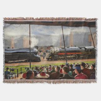 Train - Railroad Pageant 1939 Throw Blanket