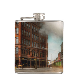 Train - Respect the train 1905 Hip Flask