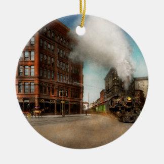 Train - Respect the train 1905 Round Ceramic Ornament