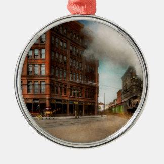Train - Respect the train 1905 Silver-Colored Round Ornament
