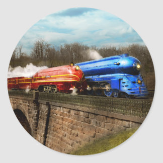 Train - Retro - Meet the Royals 1938 Classic Round Sticker