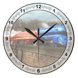 Train - Retro - Meet the Royals 1938 Large Clock