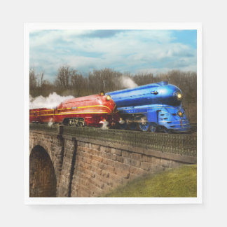 Train - Retro - Meet the Royals 1938 Paper Napkin