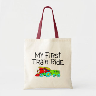 Train Ride My First Train Ride Budget Tote Bag