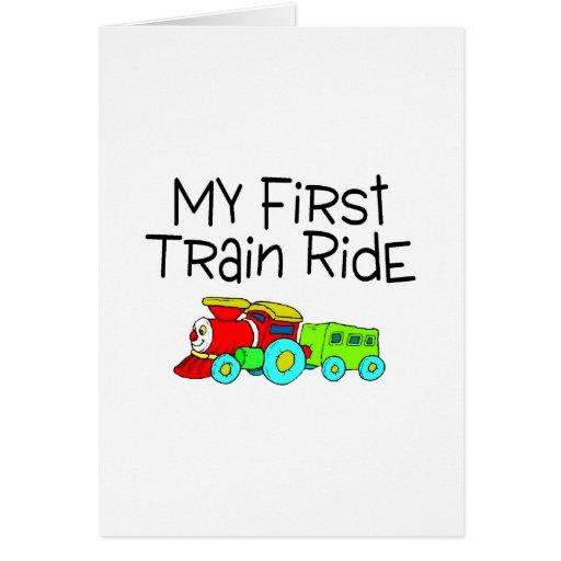 Train Ride My First Train Ride Card