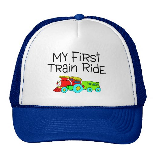 Train Ride My First Train Ride Mesh Hat