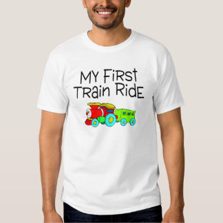Train Ride My First Train Ride Tee Shirt