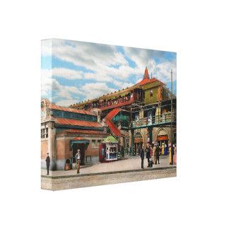 Train Station - Atlantic Ave Control House 1910 Canvas Print