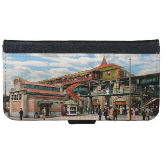 Train Station - Atlantic Ave Control House 1910 iPhone 6 Wallet Case