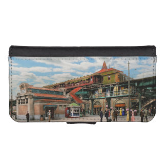 Train Station - Atlantic Ave Control House 1910 iPhone SE/5/5s Wallet Case