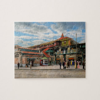 Train Station - Atlantic Ave Control House 1910 Jigsaw Puzzle