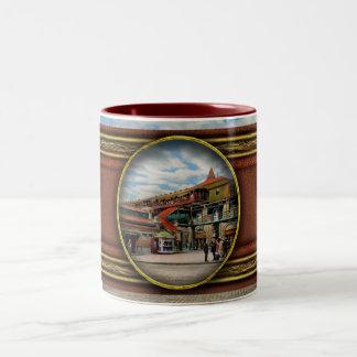 Train Station - Atlantic Ave Control House 1910 Two-Tone Coffee Mug