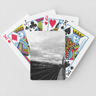 Train Station Bicycle Playing Cards