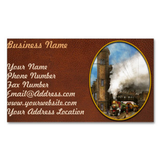 Train Station - Boston & Maine Railroad Depot 1910 Magnetic Business Card