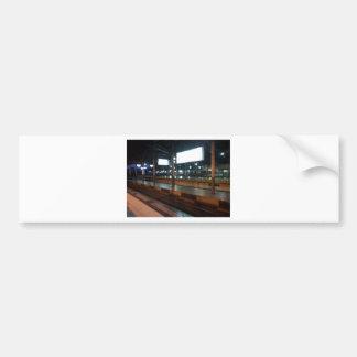 train station bumper sticker