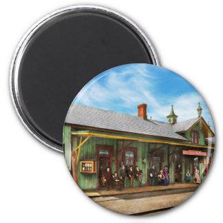 Train Station - Garrison train station 1880 2 Inch Round Magnet