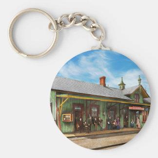 Train Station - Garrison train station 1880 Basic Round Button Keychain