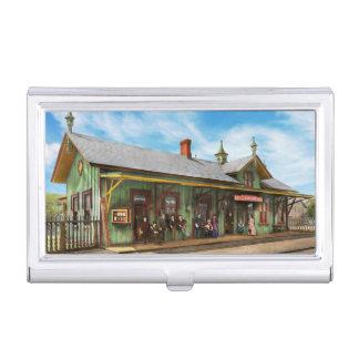 Train Station - Garrison train station 1880 Business Card Holder
