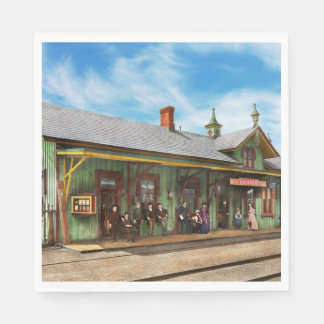 Train Station - Garrison train station 1880 Disposable Napkin