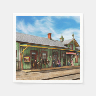 Train Station - Garrison train station 1880 Disposable Napkins