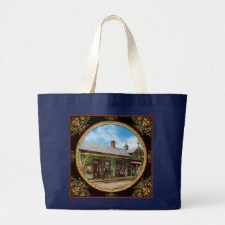 Train Station - Garrison train station 1880 Large Tote Bag