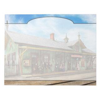 Train Station - Garrison train station 1880 Notepad