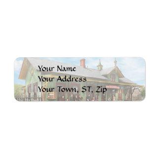 Train Station - Garrison train station 1880 Return Address Label