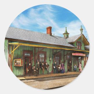 Train Station - Garrison train station 1880 Round Sticker