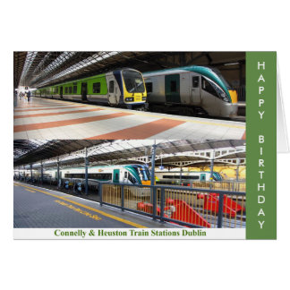 Train Station image for Birthday greeting card