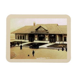 Train Station, Long Beach, Long Island, NY Vintage Magnet