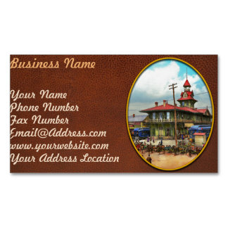 Train Station - Louisville and Nashville Railroad Magnetic Business Card