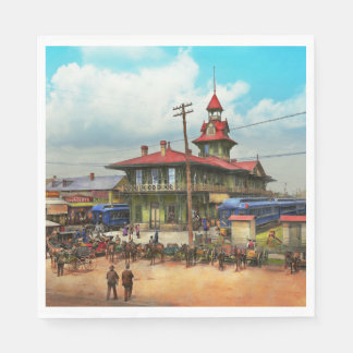 Train Station - Louisville and Nashville Railroad Paper Napkin