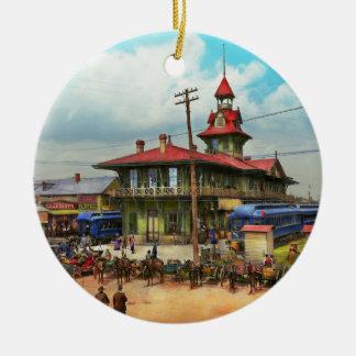 Train Station - Louisville and Nashville Railroad Round Ceramic Ornament