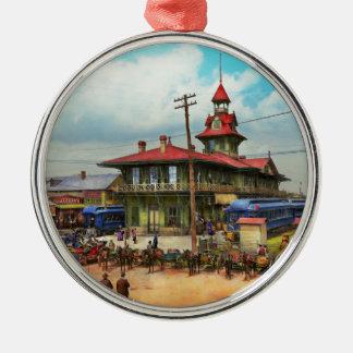Train Station - Louisville and Nashville Railroad Silver-Colored Round Ornament