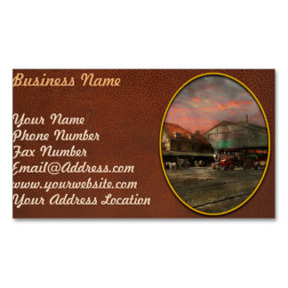 Train Station - NY Central Railroad depot 1905 Business Card Magnet