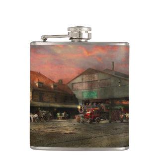 Train Station - NY Central Railroad depot 1905 Flasks