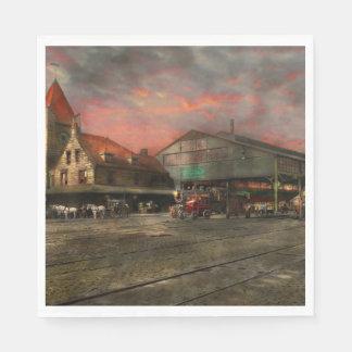 Train Station - NY Central Railroad depot 1905 Paper Napkins