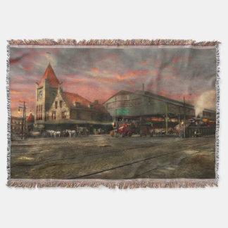 Train Station - NY Central Railroad depot 1905 Throw Blanket