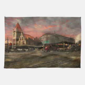 Train Station - NY Central Railroad depot 1905 Towels