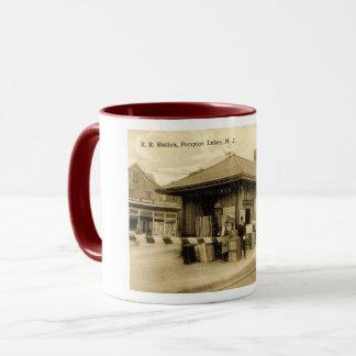 Train Station, Pompton Lakes NJ, Vintage Mug