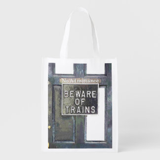 TRAIN STATION REUSABLE GROCERY BAGS