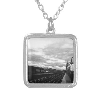 Train Station Silver Plated Necklace